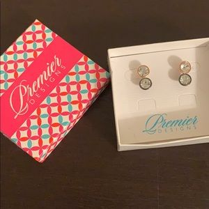 Two Pairs of Large Stud Earrings